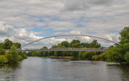 The Millennium Bridge, Modern Pedestrian Walkway over the River Ouse York England