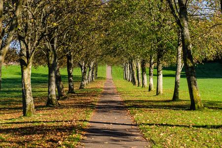Eglinton Park Irvine North Ayrshire. Public park in Autumn. Stock Photo