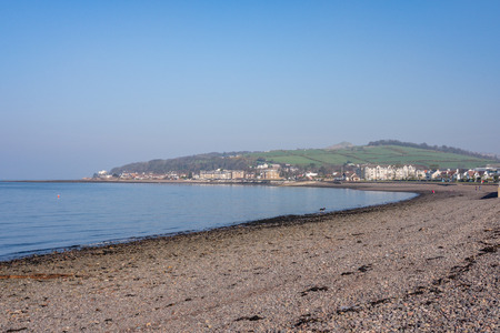 Largs bay Looking North out towards Aubery and Knock Hill in the Town of Largs on the West Coast of Scotland