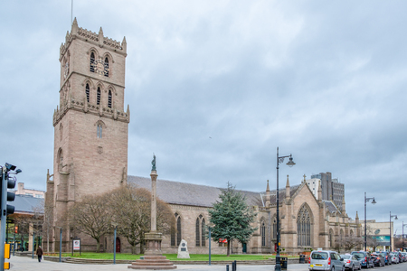 Dundee, Scotland, UK - March 22, 2019: St Mary's Tower also Known as the 'Old Steeple' dating to 1490, it has witnesssed pivital moments in Scottish history. Éditoriale