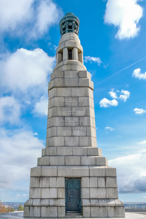 Dundee, Scotland, UK - March 21, 2019: The memorial situated at Dundee Law the highest point in the city of Dundee in Scotland.