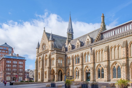 Dundee, Scotland, UK - March 23, 2019: The McManus Art Gallery in the city Centre of Dundee in Scotland.