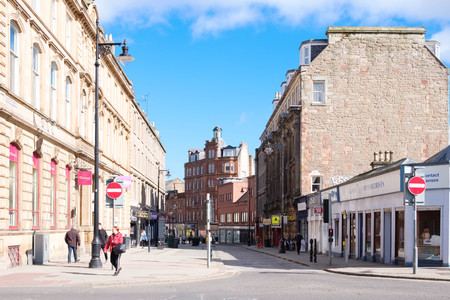 Dundee, Scotland, UK - March 23, 2019: Dundee City Centre quiet for a Saturday afternoon as retail parks take business from the Scottish High Streets in Scotland.