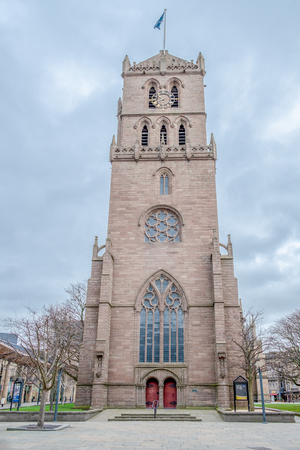 Dundee, Scotland, UK - March 22, 2019: St Mary's Tower also Known as the 'Old Steeple' dating to 1490, it has witnesssed pivital moments in Scottish history. Editorial