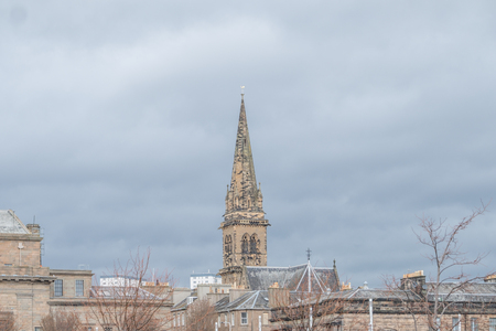 Dundee, Scotland, UK - March 22, 2019: The Spier of St Paul's Cathedral in the city centre of Dundee in Scotland.