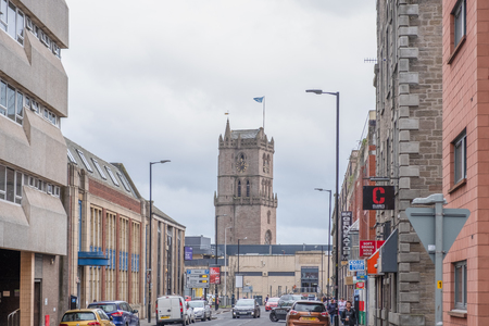 Dundee, Scotland, UK - March 22, 2019: Dundee City Centre Looking Down to Overgate Shopping Centre Dundee In Scotland.