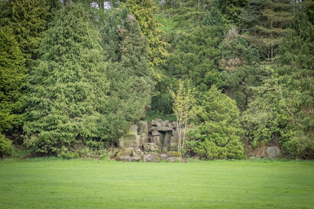 Eglinton Park and an ancient ruin of a Stone keep