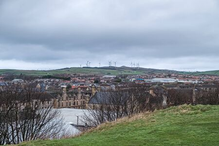 The 24 megawatt wind Turbine farm that sits above the town of Ardrossan in North Ayrshire.