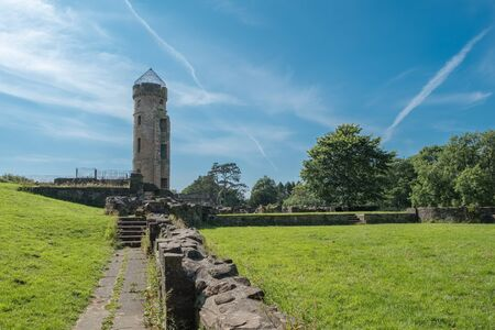 The foundations of some ancient Scottish Ruins and in particular Eglinton Castle Irvine Scotland. Stockfoto