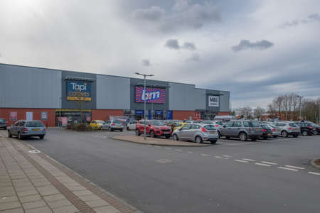 Ayr, Scotland, UK - March 07, 2019: Heathfield Retail Park in Ayr Scotland one of the new retail facilities in the West of Scotland that is pulling commerce away frommany High Streets.