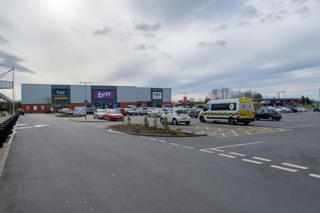 Ayr, Scotland, UK - March 07, 2019: Heathfield Retail Park in Ayr Scotland one of the new retail facilities in the West of Scotland that is pulling commerce away from many High Streets.