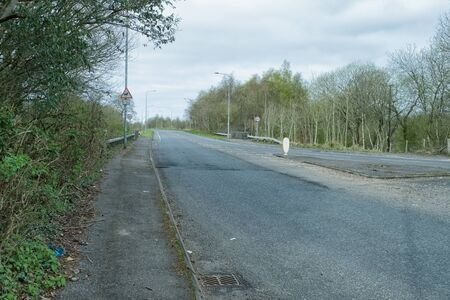 Looking along a very quiet Cairnmount Road Irvine during the  Lockdown.