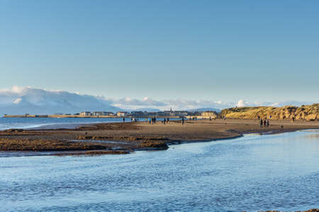 Stevenston Beach and the Isle of Arran on New Years day 2021. Saltcoats can also be seen in the far distance.