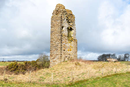 The Ancient Barony and Castle of Corsehill near Stewarton East Ayrshire Scotland. The old ruins are steeped with local history of the area.