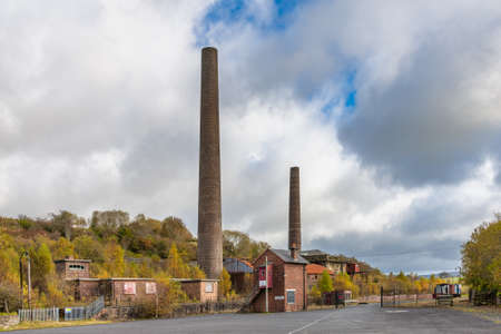Patna, Scotland, UK - October 10, 2020: The Scottish Industrial Railway Centre at Dunaskin Patna Ayrshire in Scotland is an industrial heritage museum operated by the Ayrshire Railway Preservation Group.