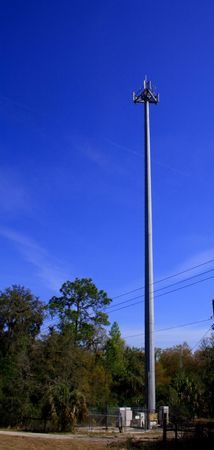 Small cell phone transmission tower