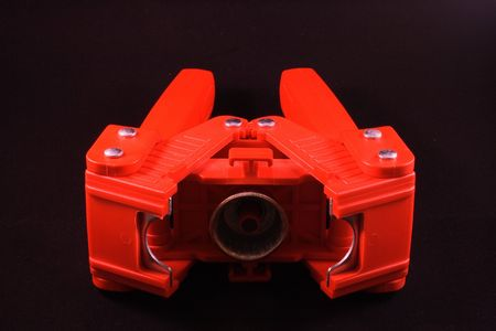 crimper: red bottle capper on side