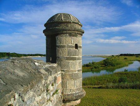 聖アウグスティヌスは、フロリダで Ft マタンサスの要塞にスペインの防御的なタレット