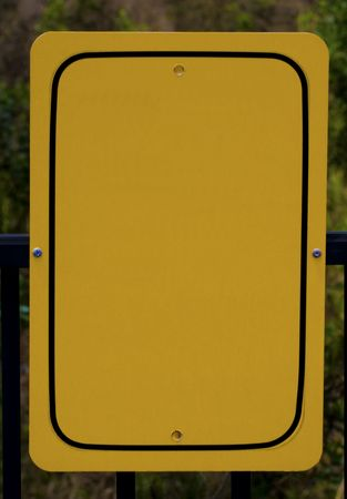Yellow sign board empty for copy placment