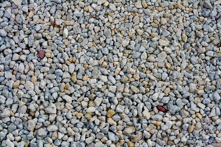 View of gravel from a parking lot