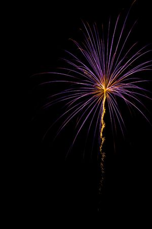 Purple burst with orange center and tail trailing below Stock Photo - 1358308