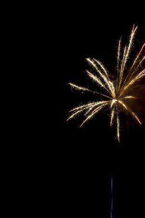 Blue streak leading into a sparkly burst photo