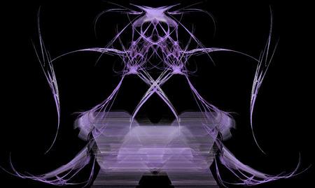 Purple fractal spirit design with black background