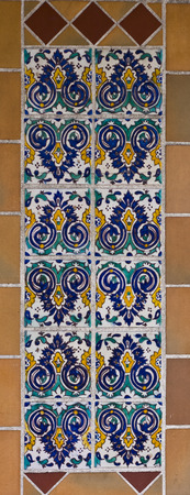 spanish tile: Colorful spanish painted tiles with interesting designs