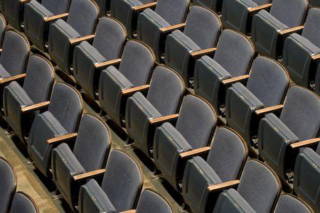 聴衆のための劇場の座席の行