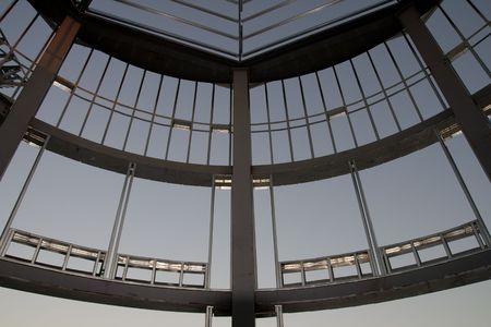 turret: Turret under construction showing exposed framework Stock Photo