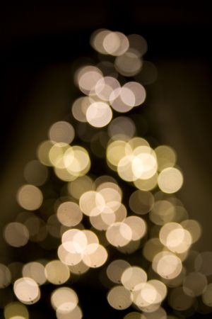 Ultra soft focus  tree lights suggesting tree shape 版權商用圖片