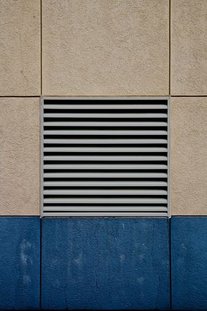 air diffuser: Air vent in stucco wall with lines