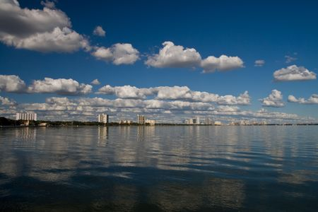 tampa bay: Mid afternoon view of Old Tampa Bay with some clouds