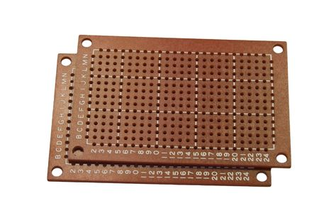 prototyping: Pre-drilled prototyping PC board against white background