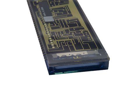 Backside of a gas plasma digital display circuit encased in glass Reklamní fotografie