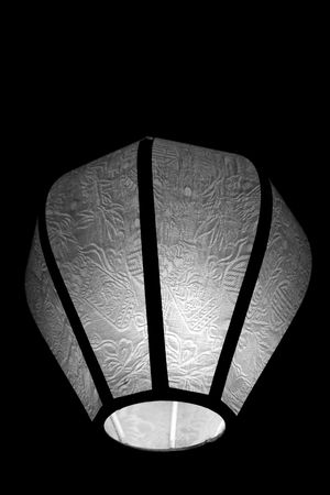 Monochrome Oriental lamp with textured cloth photo
