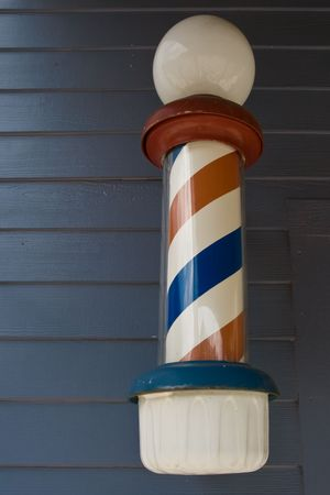 Barber pole on wall Stock Photo - 3291833