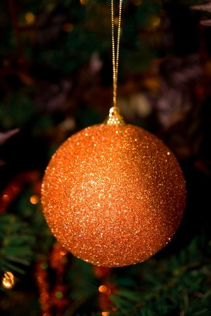 sparkly: Glitter covered sparkly christmas tree ornament ball