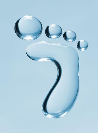 foot marks: Stylized waterdrop footprint