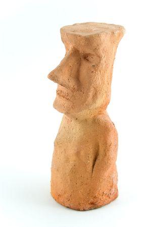moai: Moai modelo de arcilla.  Foto de archivo