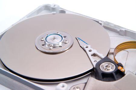 Detalied open hard drive photo