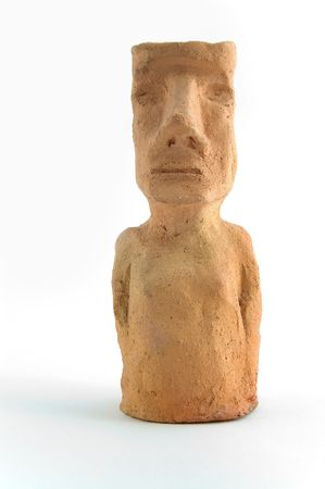 moai: Moai modelo de arcilla.