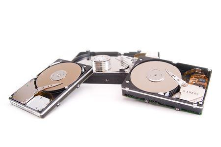 Opened hard drives photo
