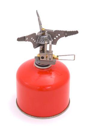 gas cooker: Cocina de gas con botella.
