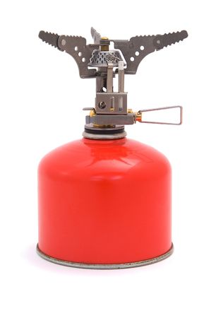 Gas cooker with bottle. photo