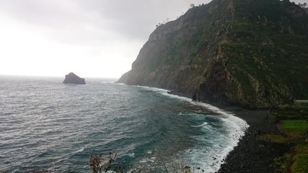Beach of Madeira, Portugal Stock Photo