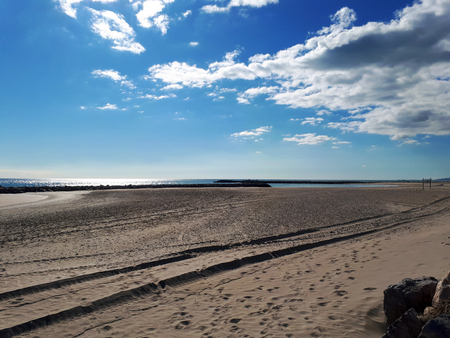 Beach of Palavas les Flots, France