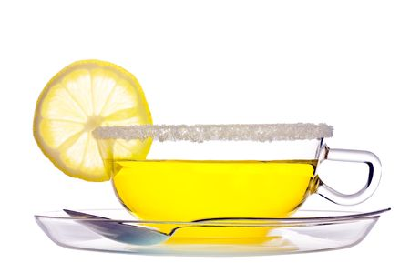 stimulate: a cup of fruit tea  with lemon