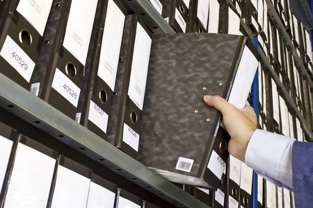 Shelf with Folders for documents Stock Photo - 3547711