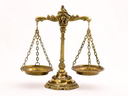 Una foto de la balanza de la justicia con un tema de superposici�n de equilibrio Foto de archivo - 3635954